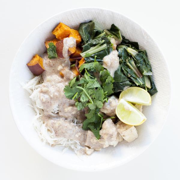 Vegan Meal Plan Buddha Bowl Tangy Noodle Bowl   @sweetpotatosoul