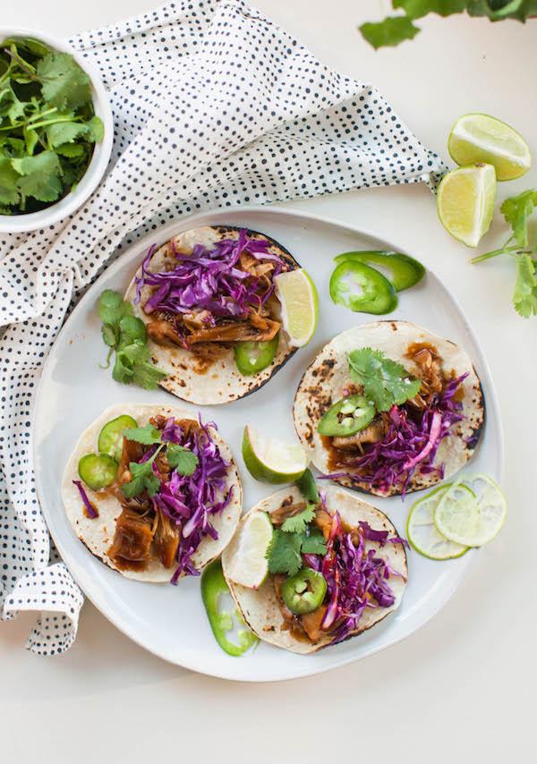 Korean BBQ Jackfruit Tacos 15 Minute Vegan Meals   @sweetpotatosoul