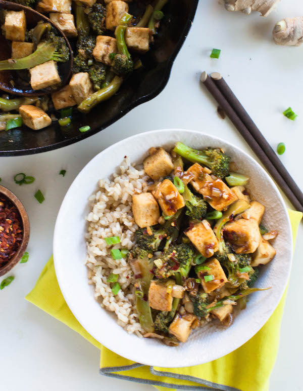 Cheap Vegan Recipes Broccoli Tofu | @sweetpotatosoul