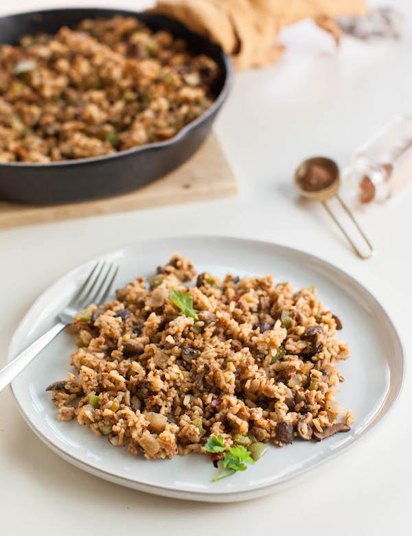 Vegetarian Dirty Rice | Vegan Recipes for Meat Lovers | @sweetpotatosoul