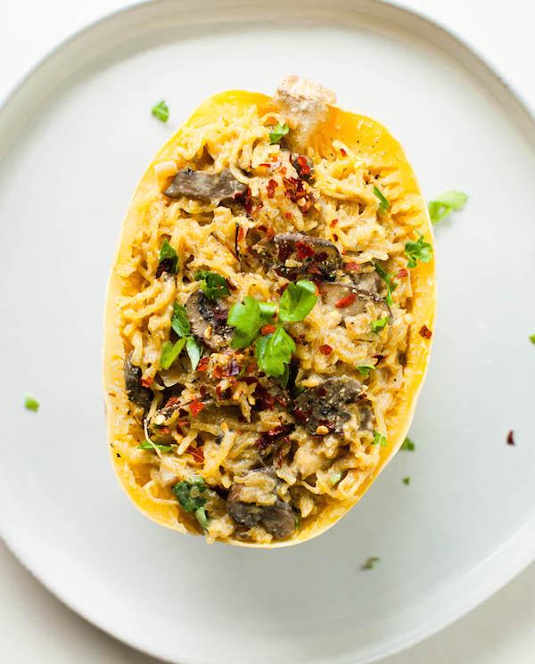 spaghetti squash alfredo | Instant Pot Spaghetti Squash | @sweetpotatosoul