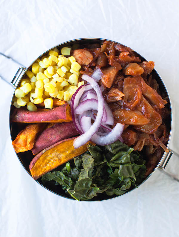 BBQ Jackfruit Bowl Vegan Lunch Ideas