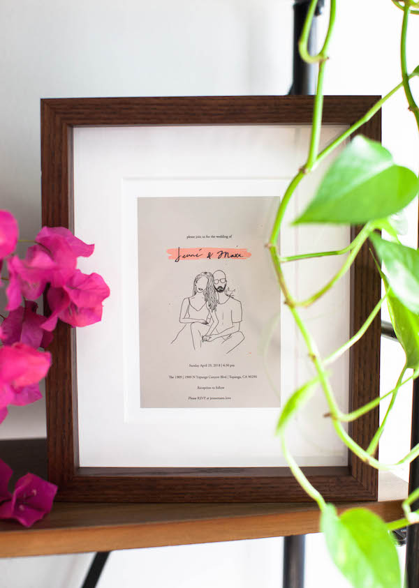Artifact Uprising Framed Wedding Invitation by Deun Ivory