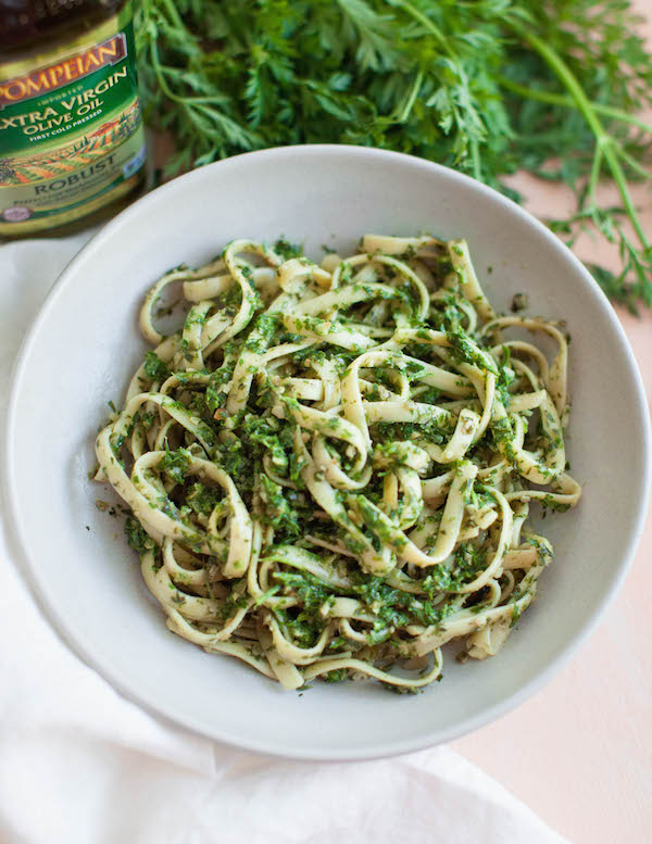 Carrot Top Pesto | @sweetpotatosoul