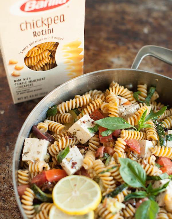Mediterranean Pasta Salad | @sweetpotatosoul
