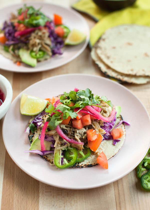 Mushroom Carnitas Tacos | @sweetpotatosoul