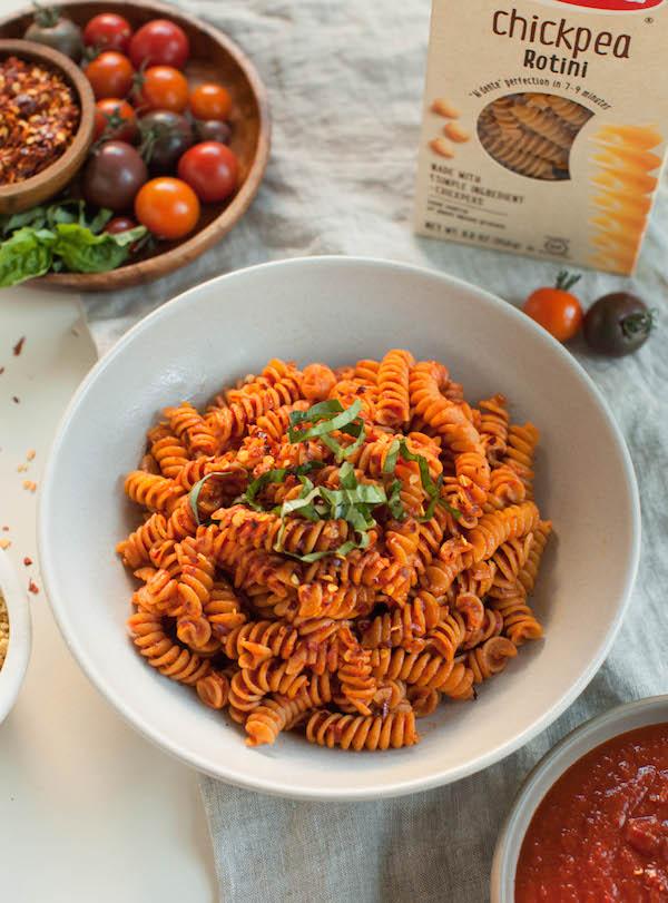 Spicy Pasta Arrabbiata | @sweetpotatosoul