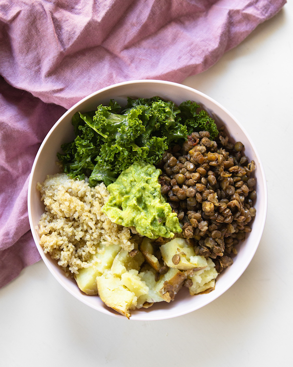 Lentil buddha bowl Vegan Meal Plan for Busy People