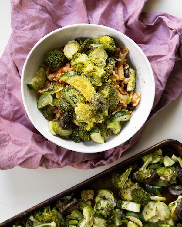 Roasted veggies Vegan Meal Plan for Busy People