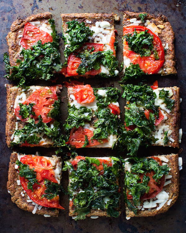 Vegan Cauliflower Pizza Crust | @sweetpotatosoul