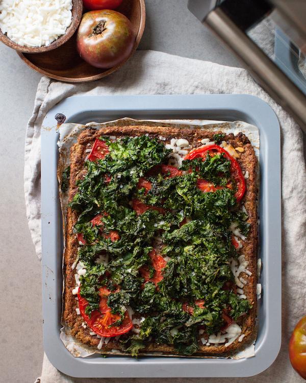 Vegan Cauliflower Pizza Crust   @sweetpotatosoul