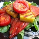 Grilled Watermelon and Pineapple Salad with Lemon Basil Vinaigrette