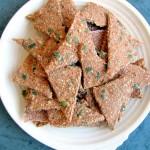 Raw Sweet Potato Pumpkin Seed Crackers