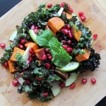 Mint Pesto Sweet Potato Pomegranate Salad