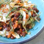 Spring's Best Bounty + Citrusy Fennel and Black Chickpea Salad