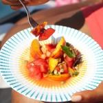 Watermelon & Peach Salad with Lime Vinaigrette