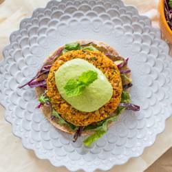Sweet Potato Burgers with Green Tahinii