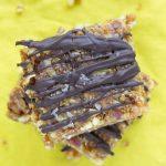No-Bake Fig Walnut Bars with Chocolate