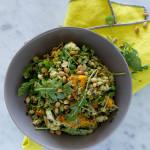 Arugula Pesto + Farro Pilaf