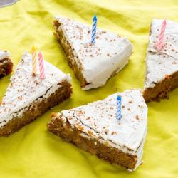 Vegan Sweet Potato Birthday Cake