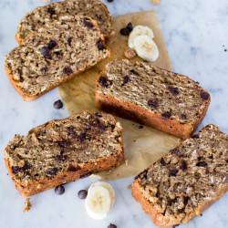 Vegan Mocha Banana Bread. Made with Tigernuts, Oats, & Spelt Flour