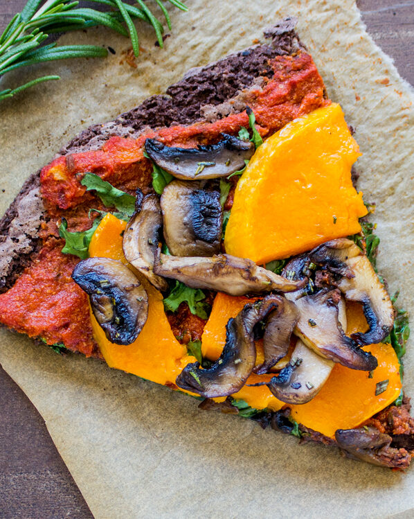 Black Bean Crust Pizza