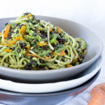 Simple Spinach Pesto Pasta + How to Use your CSA Box