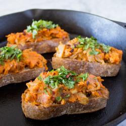 Sweet Potato & Caramelized Onion Toast {VIDEO}