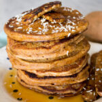 Vegan Sweet Potato Pancakes {VIDEO}