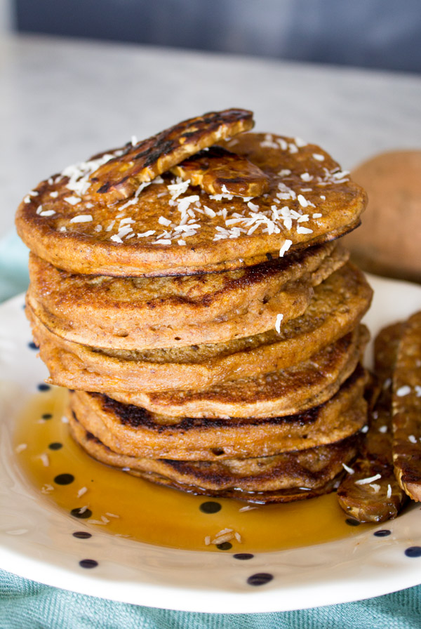 Vegan Sweet Potato Pancakes | www.sweetpotatosoul.com