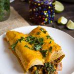 Vegan Chipotle Sweet Potato Enchiladas {VIDEO}