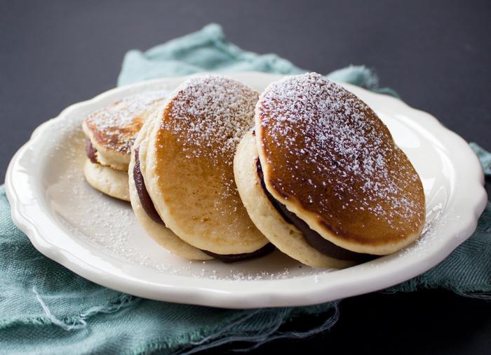 Japanese Pancake Recipes: Vegan Dorayaki Japanese Pancake With Red Bean Paste Filling
