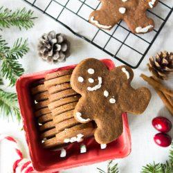 Vegan Gingerbread Cookies   www.sweetpotatosoul.com