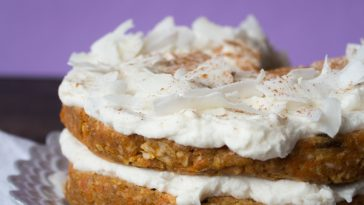 Raw Coconut Carrot Cake with Harmless Harvest {VIDEO}