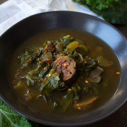 Vegan winter soup Green Gumbo @sweetpotatosoul