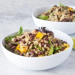 Mango Black Bean Quinoa Salad Easy Vegan Recipes   www.sweetpotatosoul.com