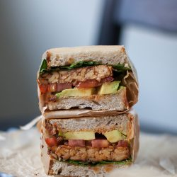 BBQ Tempeh Sandwich | Back to School Lunch Ideas