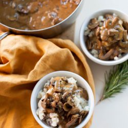 Mushroom Gravy and Vegan Mashed Potatoes | sweetpotatosoul.com