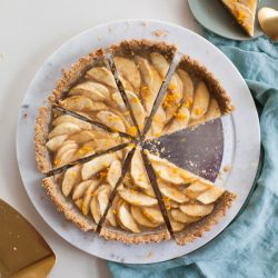 Vegan Apple Tart with Walnut Crust
