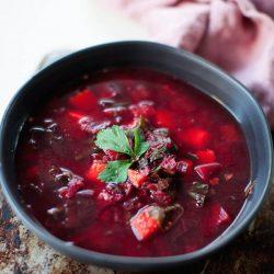 Beet Sweet Potato Soup | @sweetpotatosoul