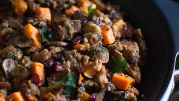 Butternut Squash Slow Cooker Stuffing
