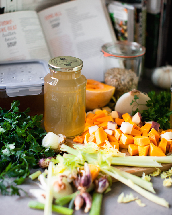 homemade vegetable broth & sweet potato soul cookbook