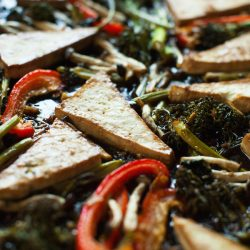 One-Pan Maple Teriyaki Tofu & Veggies