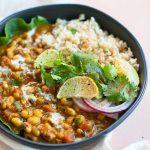 Sweet Potato Black-Eyed Pea Curry {INSTANT POT RECIPE OPTION}