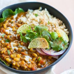 Sweet Potato Black-Eyed Pea Curry {Instant Pot option}