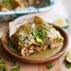 Green Chili Chicken Enchiladas | 100% VEGAN