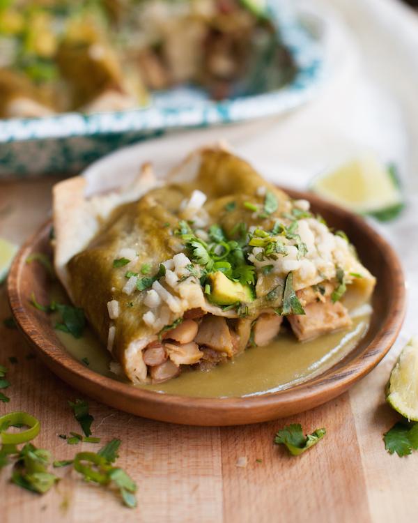 Green Chili Chicken Enchiladas 100 Vegan Sweet Potato Soul