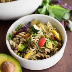 Avocado Pasta Salad with Grilled Veggies