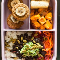 Caribbean-Inspired Vegan Bento Box Meal Prep + VIDEO