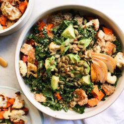 Massaged Kale Salad | Fast Vegan Meal Prep